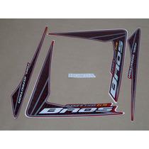 Kit Adesivos Honda Nxr150 Ks Bros 2009 Vermelha - Decalx