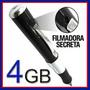Caneta Espiã Filmadora 4gb Audio E Video Resolução 640x480