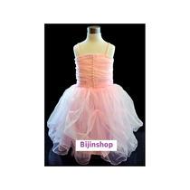 Vestido Infantil Festa Princesa/ Bailarina Rosa Tam 1