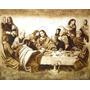 Tela Santa Ceia Pintura Quadro Sacra Jesus Sob Encomenda