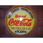 Placa Decoração Concava Aço 40cm Coca Cola