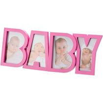 Porta Retrato Infantil Rosa, Para Fotos 10x15 Do Bebê - 3887