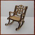 Miniaturas Em Mdf Mini Móveis- Cadeira De Balanço Gde