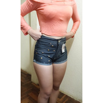 Shorts Cintura Alta D´jordan Hype Brasil Jeans Que Estica.