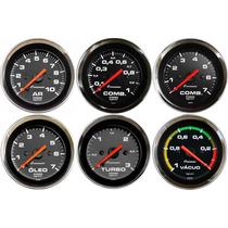 Pressão Turbo Combustivel Vacuo Óleo Ar Croma 60mm Cronomac