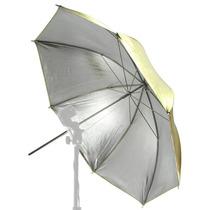 Sombrinha Rebatedora 2x1 Dourada E Prata - 91cm