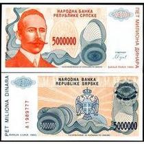 Bósnia Herzegovina 5 Milhões Dinara 1993 P.153 Fe Cédula Bel