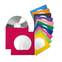100 Envelopes Papel Para Cd / Dvd Com Visor Transparente