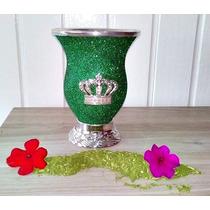 Cuia Para Chimarrão Glitter Coruja Coroa Personalizada