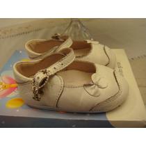 Lindo Sapato Branco Boneca Tam. 17 Laço Infantil Menina