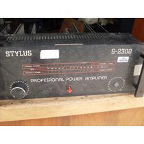 Amplificador De Potência Profissional Stylus Mod,s 2300 Não