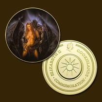 9757c - Mitologia Nórdica - Banhada A Ouro 24 K - 40 Mm