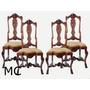 Conjunto De 4 Cadeiras Inglesas Em Carvalho Africano
