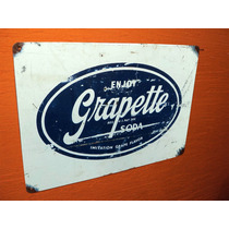Placas Decorativa Bares Salas Bup Grapette Coca-cola Crush