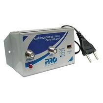 Amplificador De Linha Proeletronic Vhf Uhf 30db Pqal-3000