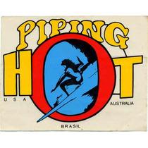 Adesivo Surf Raríssimo Piping Hot - Anos 80 - 14x11