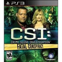 Jogo Csi: Crime Scene Investigation Fatal Conspiracy Pra Ps3