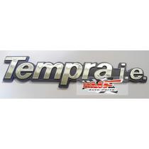 Emblema Tempra I.e.fundo Azul Brilhante - Mmf Auto Parts.