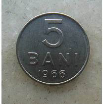 4812 Republica Socialista Romenia 5 Bani, 1966 Inox, 10mm