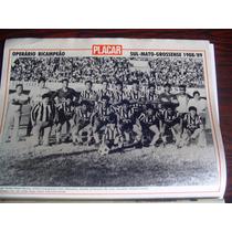 Miniposter Médio Mixto E River Pi Campeão 1989 Placar Fgrats