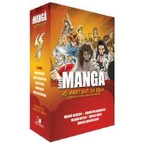 Box Série Mangá - 5 Livros As Aventuras Da Bíblia