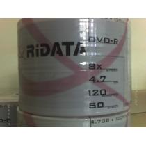 100 Dvd-r Ridata Logo Ou Printable Queima Estoque Promoção!!