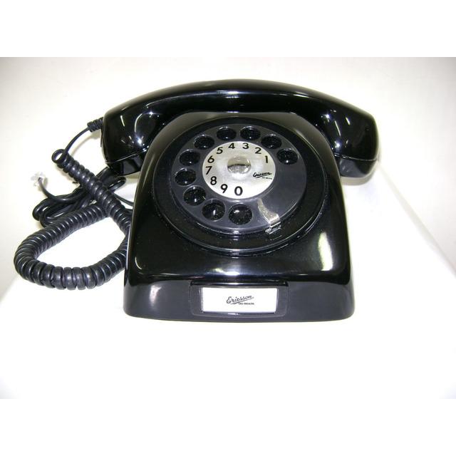 Telefone Dlg Ericsson Preto Anos 70 Original