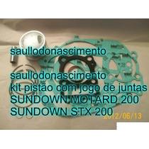 Kit Pistão Sundown Motard 200 Stx 200 + Jogo Juntas