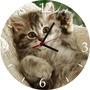 Relógio De Parede Em Vinil, Gatinho, Gato