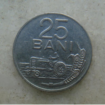 4814 Republica Socialista Romenia 25 Bani, 1966, Inox, 22mm
