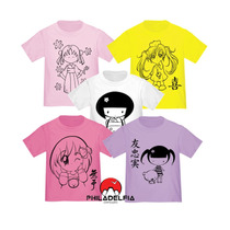 Camiseta Japonesa Meninas Nº 1/2/3/4 100% Algodão Penteado