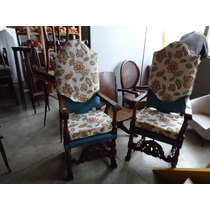 Par De Cadeiras Inglesas Do Séc. Xix