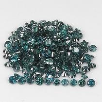 L O T E S Com 0.50 Cts Cada - Diamantes Azuis Esverdeados
