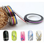 Kit 10 Fitas Adesivas Metalizadas Nail Art Escolha As Cores!