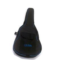 Capa Bag Extra Luxo Violão Folk Formato Cr Bag - Sou Loja