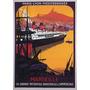 Mar Navio Porto França Marselha Poster Repro
