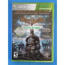 Batman: Arkham Asylum Goty - Xbox 360 - 3d - Lacrado !!!