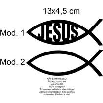 Adesivo Notebook Peixe Ictus Evangélico Cristão Jesus