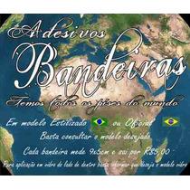 Adesivo Bandeira Do Brasil + Frete Gratis