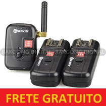 Kit Radio Flash 8 Canais Disparador De Flash Radio/wireless