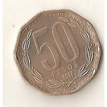 2168 - Chile - 50 Pesos Niquel 2007 - Excelente Conservação