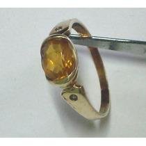 Lindo Anel Em Ouro 18k750 Com Safira Amarela - Promocao An02