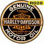 Placas Redondas Vintage Retro Harley Davidson