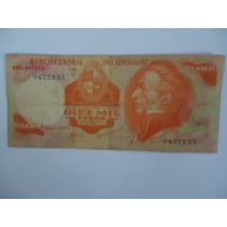 10.000 Mil Pesos Uruguay -serie:a - Bc -para Colecionar