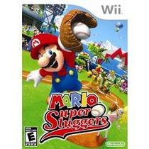 Jogo Lacrado Usa Mario Super Sluggers Para Nintendo Wii