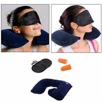 Kit Viagem Travesseiro Infl,masc.de Dormir,protetor Ouvidos