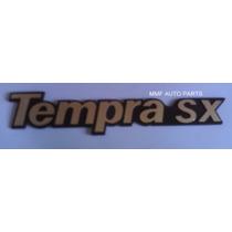 Emblema Tempra Sx (dourado Fundo Preto) - Mmf Auto Parts