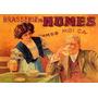 Restaurante Boa Cerveja Humes Vintage Frances Poster Repro