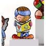 Romero Britto Mini Boy Teddy Nova Coleção Miniaturas 6cm