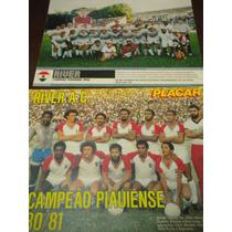 Lote Com 2 Posters River Campeão Piauí Placar